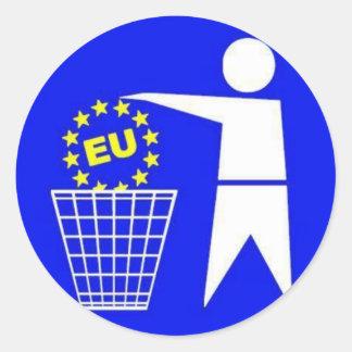 Sticker: Anti European Union protest Round Sticker