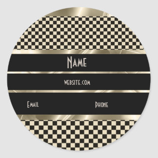 Sticker Art Deco Sepia Gold Black