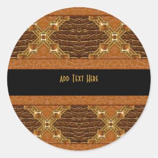 Sticker Black Gold Leather
