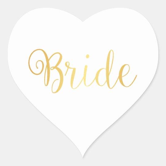 Sticker - Bride golden
