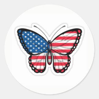 sticker butterfly the USA