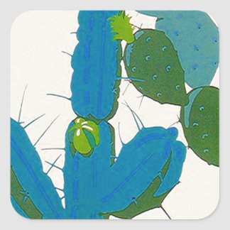 Sticker Cacti Cactus Retro Turquoise Avacado SW AZ