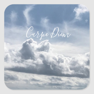 Sticker Carpe Diem, beautiful photo of the clouds