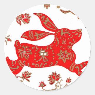 Sticker Chinese New Year of the Rabbit 2011