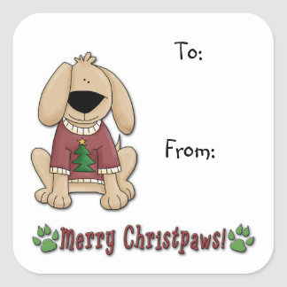 Sticker - Christmas Dog Pooch Gift Tags