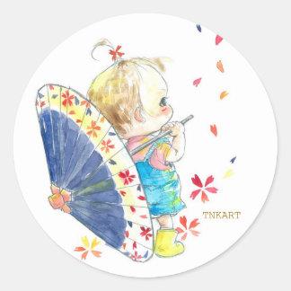 Sticker circular (large) harmony umbrella