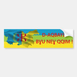 Sticker conveys D-Aqbayli bɣu neɣ qqim!