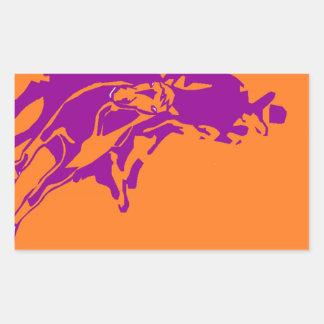 Sticker Cowboy Cutting Horse Pop-Art Ranch Purple