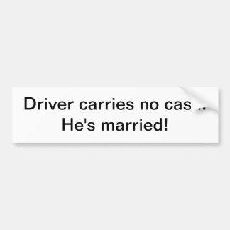 Sticker - Driver carries no cash Bumper Sticker
