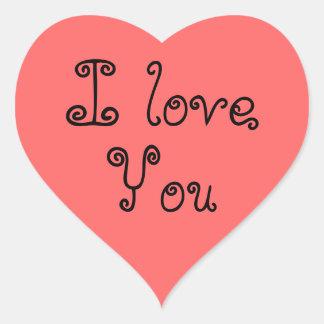 Sticker Envelope Seals Valentines I Love You Pink