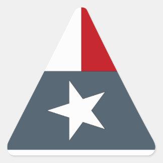 Sticker Faded Blue Lone Star Flag Heart Texas Tex
