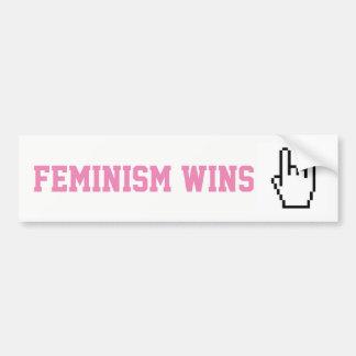 Sticker feminism wins bumper sticker