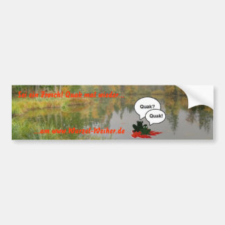 Sticker for pond frogs bumper sticker