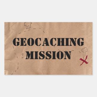 Sticker: Geocaching Mission, on an Old Map Sticker