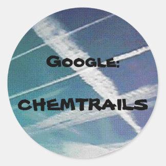 Sticker: Google Chemtrails Classic Round Sticker