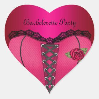 Sticker Heart Bachelorette Party Pink Peach Corset
