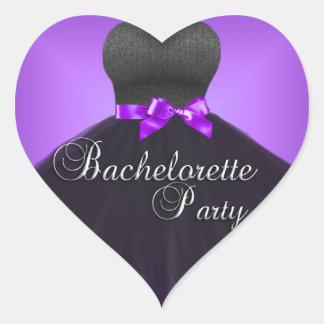 Sticker Heart Bachelorette Party Purple Black