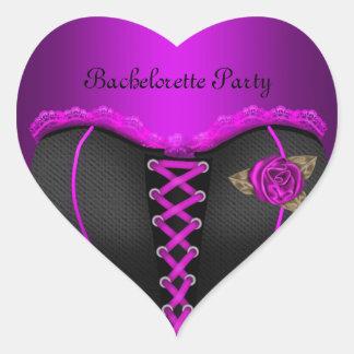Sticker Heart Bachelorette Party Purple Corset