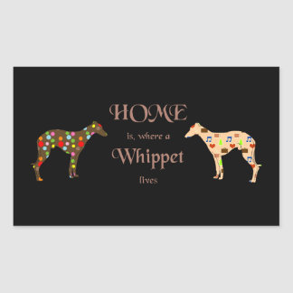 Sticker HOME is, where A Whippet of lives