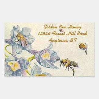Sticker Honey Bees Morning Glory Flowers Beekeeper