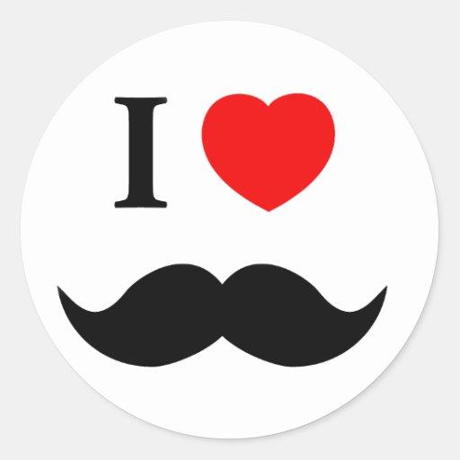 sticker I love mustache