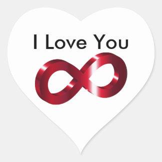 Sticker- I Love you - Infinity Heart Sticker