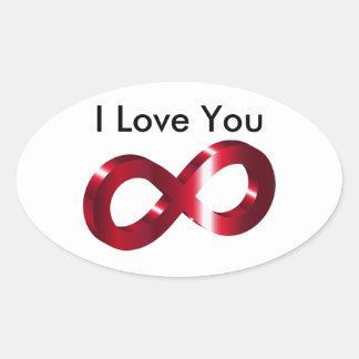 Sticker- I Love you - Infinity Oval Sticker