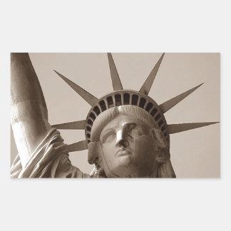 Sticker Lady Liberty Island USA Sepia Statue Of