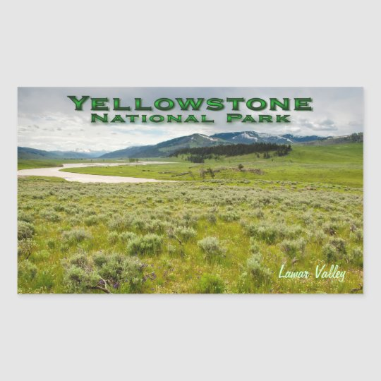 Sticker: Lamar Valley #2 (Rectangle) Sticker