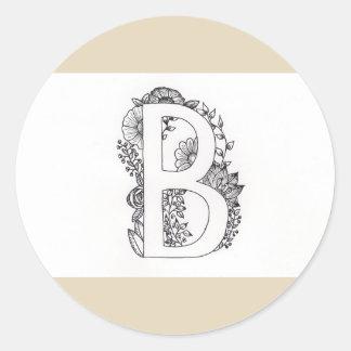 """Sticker Letters """"B """""""