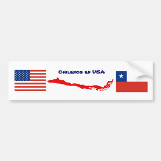 Sticker Mapa Chile USA 1