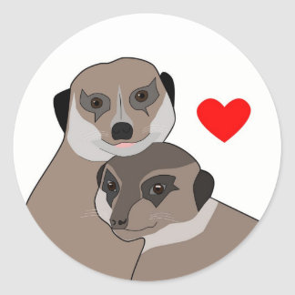 "Sticker ""Meerkats in Love"""