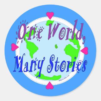 Sticker - One World, Many Stories