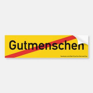 "Sticker: Orts-Ende-Schild: ""Property human being"" Bumper Sticker"