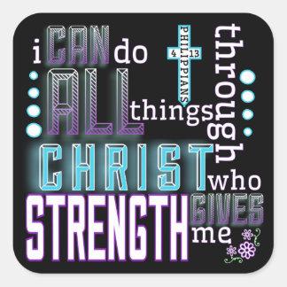 Sticker - Philippians 4:31 Square Sticker