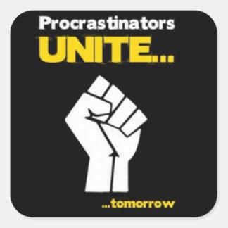 Sticker Procrastinators Unite