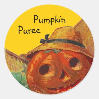 Sticker Pumpkin Harvest Home Canning Jar Circles