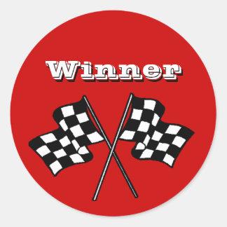 Sticker Race Fans Winner Checkered Flags auto cars