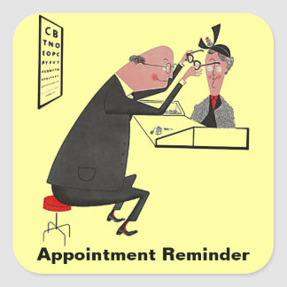 Sticker Retro Appointment Reminder Eye Check Chart