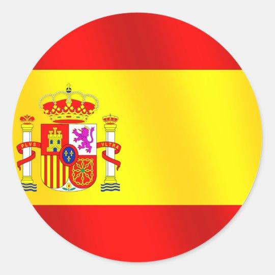 Drapeau Rond sticker rond drapeau de l'espagne pour des espagnols dans le | zazzle.ca