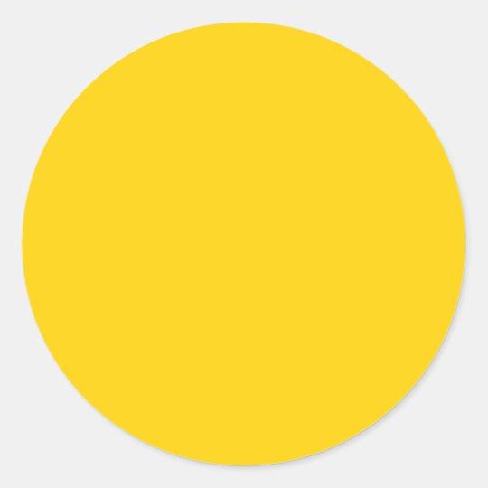 sticker rond jaune jaune canari la couleur parfaite pour. Black Bedroom Furniture Sets. Home Design Ideas