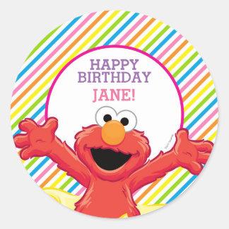 Sticker Rond L'anniversaire de la fille du Sesame Street   Elmo