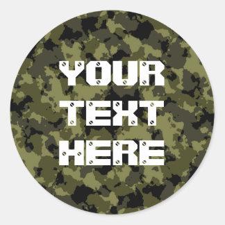 Sticker Rond Les militaires de camouflage dénomment