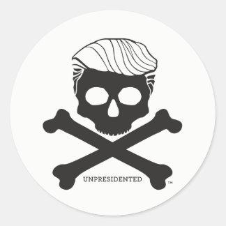 Sticker - round, white with black logo