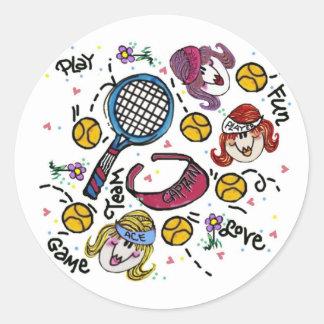 Sticker Sheet -Tennis Girls