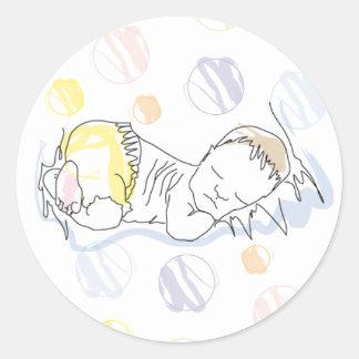 Sticker sleepy baby