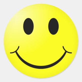 sticker_Smile Classic Round Sticker