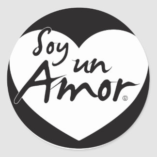 Sticker - Soy Black and White Amor