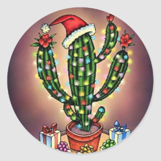 Sticker SW Christmas Holiday Tree Cactus Saguaro