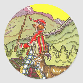 Sticker Swiss Alps Heidi Alpine Hiking HIke Mtns